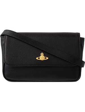 VIVIENNE WESTWOOD Saffiano leather cross-body bag