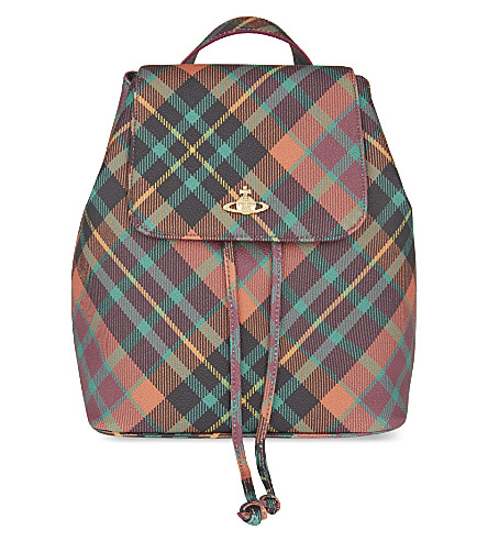 VIVIENNE WESTWOOD Derby checked backpack (Derby mac henry
