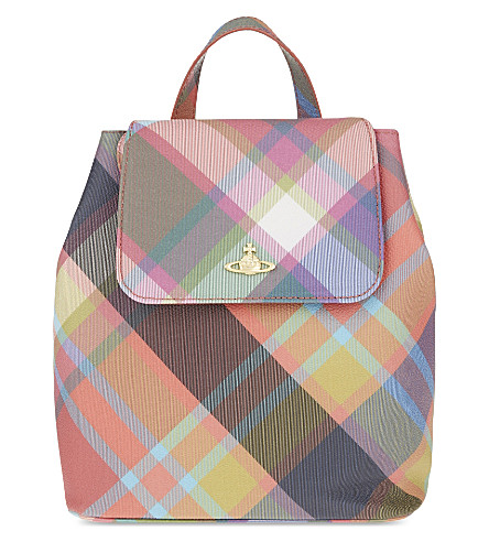 VIVIENNE WESTWOOD Derby tartan small backpack (Harlequin