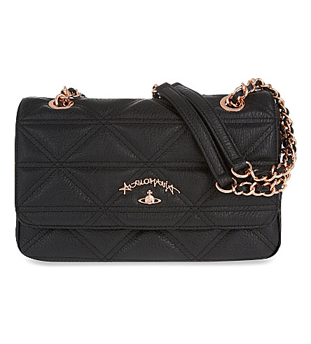 VIVIENNE WESTWOOD Sharlenemania small shoulder bag (Black
