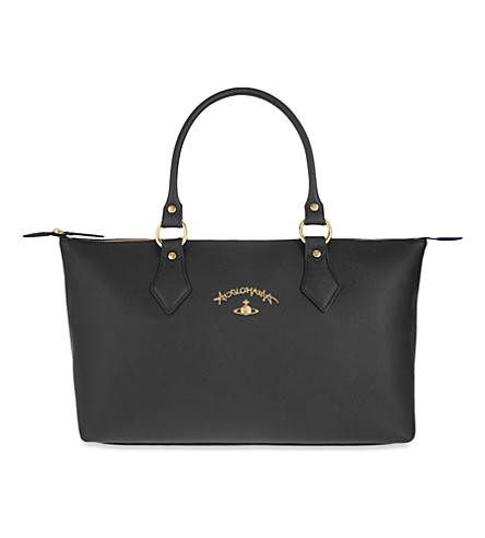 VIVIENNE WESTWOOD Divina faux-leather shopper (Black