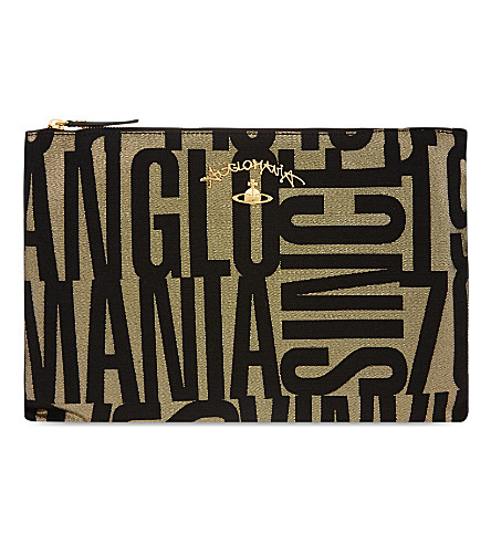 VIVIENNE WESTWOOD Anglomania jacquard pouch (Black
