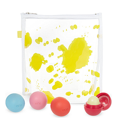 SELFRIDGES Make-up bag and EOS lip balm set