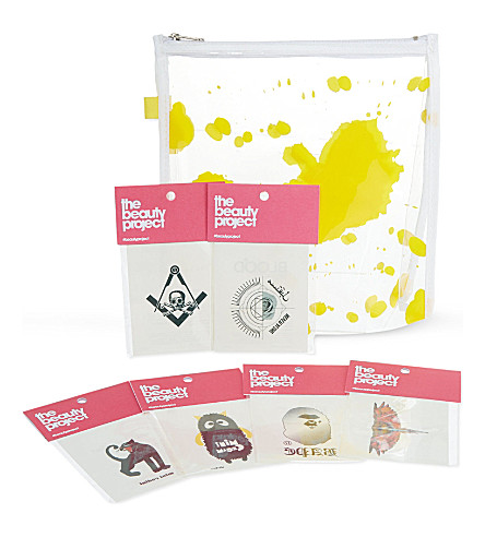 SELFRIDGES Make-up bag and temporary tattoo set