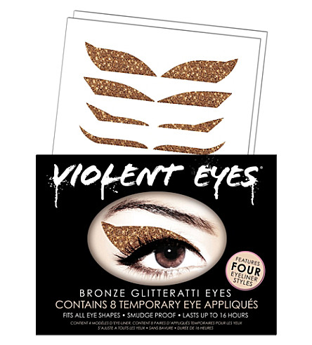 VIOLENT LIPS Violent Eyes® bronze glitteratti