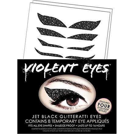 VIOLENT LIPS Violent Eyes® jet black glitteratti