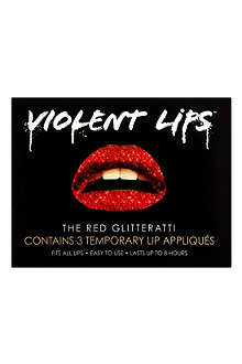 VIOLENT LIPS The Red Glitterati lip appliqués