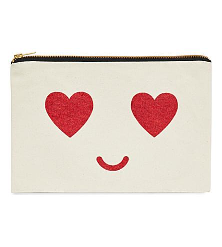 ALPHABET BAGS Heart Eyes cotton make-up bag
