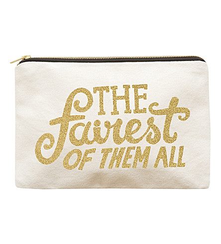 ALPHABET BAGS The Fairest Of Them All canvas pouch