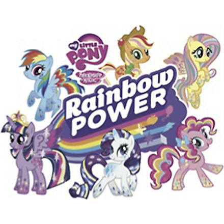 FASHION TATTOO My Little Pony rainbow power temporary tattoo