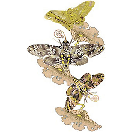 FASHION TATTOO Topshop flower and moth temporary tattoo