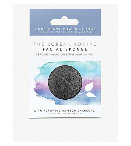 THE KONJAC SPONGE COMPANY Konjac bamboo charcoal facial puff