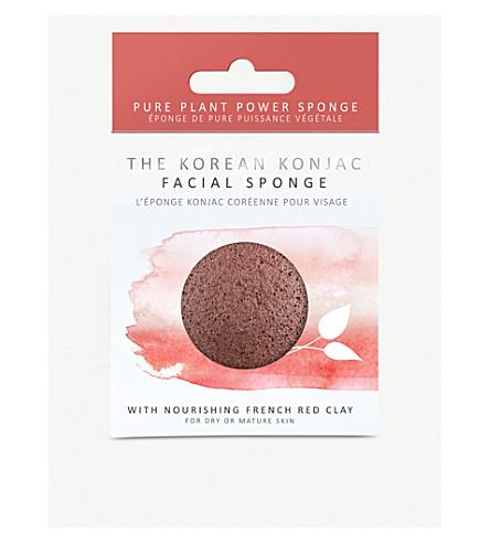 THE KONJAC SPONGE COMPANY Konjac puff sponge with nourishing mineral-rich red clay