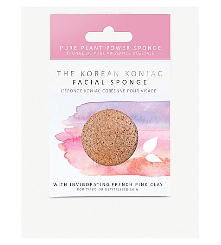 THE KONJAC SPONGE COMPANY Heart-shaped Konjac facial sponge with nourishing pink clay