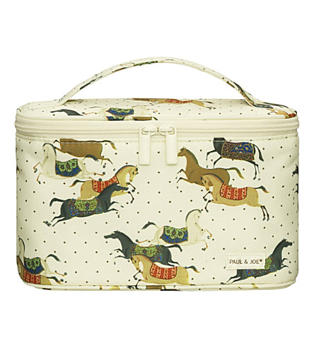 PAUL & JOE Horse-print cosmetic pouch