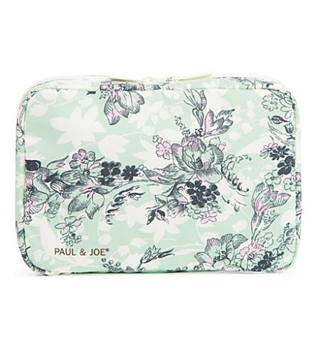 PAUL & JOE Floral make-up bag (Green floral binder