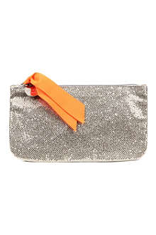 LOUISON Glitter grosgrain-detail make-up bag