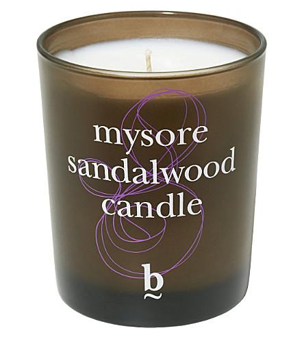 BBROWBAR B Mysore Sandalwood candle 200g