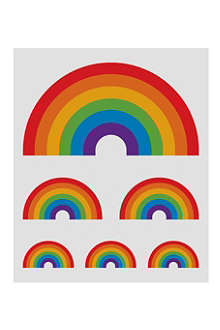 TATTLY Rainbow temporary tattoo