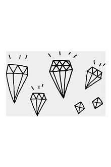 TATTLY Diamonds temporary tattoo