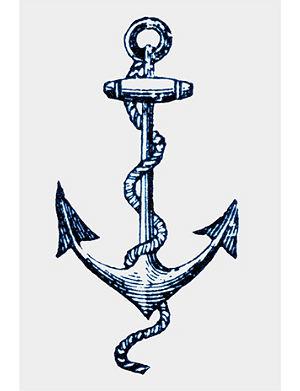 TATTLY Cartolina Anchor temporary tattoo