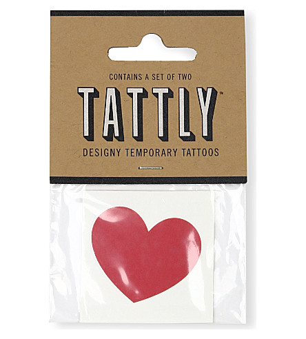 TATTLY Classic red heart temporary tattoo