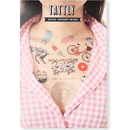 TATTLY Premier temporary tattoo set