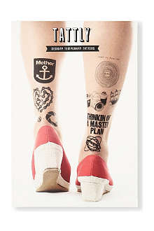 TATTLY Black temporary tattoo set