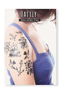 TATTLY Nautical temporary tattoo set