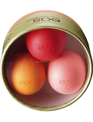 EOS Assorted lip balms pack of 3