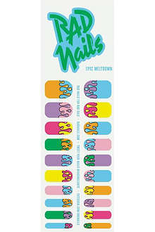 RAD NAILS Epic Meltdown nail wraps