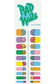 RAD NAILS Epic Meltdown nail wraps