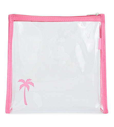 ROCKET BAGS Palm tree clear travel bag