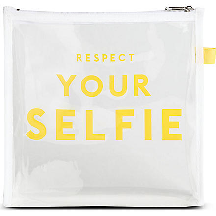 SELFRIDGES Respect Your Selfie make-up bag