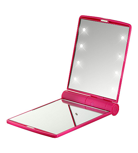 FLO Celebrity LED travel mirror (Fuschia
