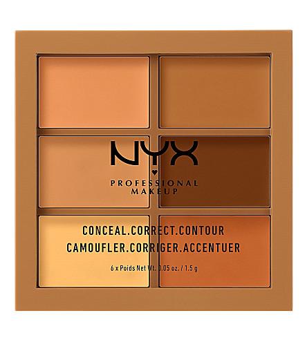 NYX PROFESSIONAL MAKEUP Conceal, Correct, Contour Palette (Deep