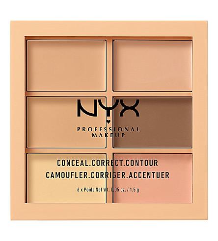 NYX PROFESSIONAL MAKEUP Conceal, Correct, Contour Palette (Light
