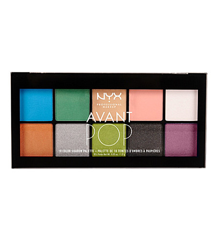 NYX PROFESSIONAL MAKEUP Avant Pop! Shadow Palette in Art Throb! (Art+throb