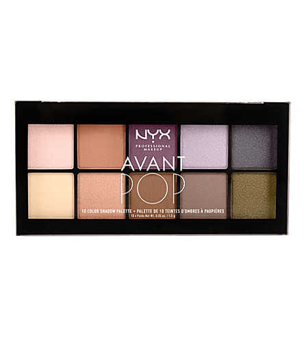 NYX PROFESSIONAL MAKEUP Avant Pop! Shadow Palette in Nouveau Chic (Nouveau+chic