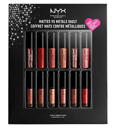NYX PROFESSIONAL MAKEUP Matte vs. Metals Lip Vault