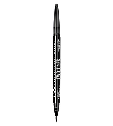 NYX COSMETICS Two Timer dual-ended eyeliner (Jet+black