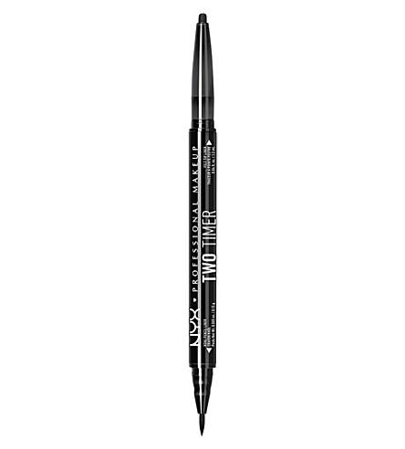 NYX PROFESSIONAL MAKEUP 两个定时器双端眼线 (喷气 + 黑色