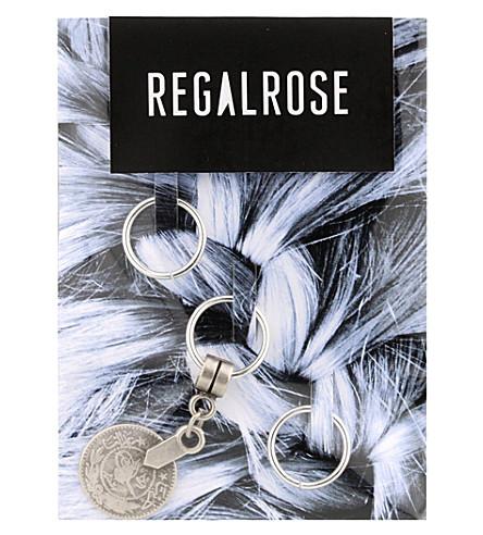 REGALROSE Babylon Coin charm hair rings (Silver