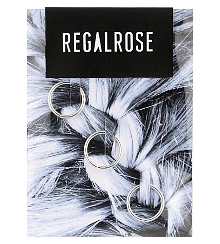 REGALROSE Aeon silver hair rings (Silver