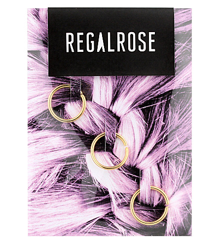 REGALROSE Aeon gold hair rings (Gold