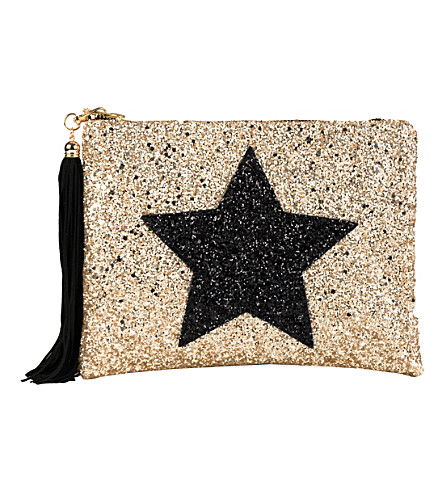 LISA BEA Glitter-star large pouch