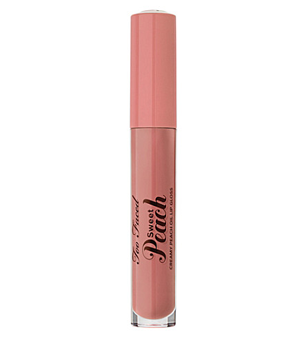 TOO FACED Sweet Peach Creamy Peach Oil Lip Gloss (Papa+don't+peach