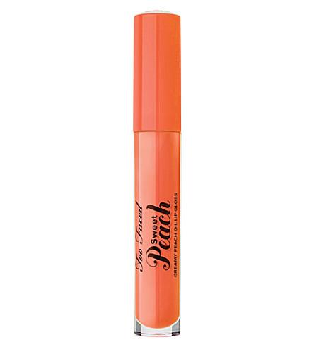 TOO FACED Sweet Peach Creamy Peach Oil Lip Gloss (Poppin peach