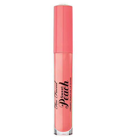 TOO FACED Sweet Peach Creamy Peach Oil Lip Gloss (Pure peach