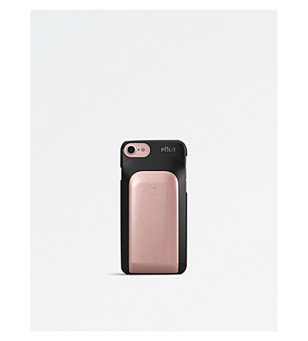 POUT CASE Make-up palette iPhone case (Black+and+pink
